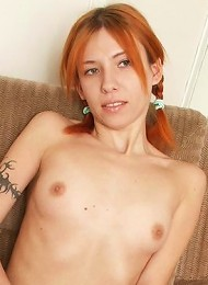 Horny red-haired babe