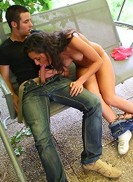 Violla, Rosa, Laska, Gregor and Filimon we just grilling out at Viollas place when things got a little out of hand! The guys just couldn